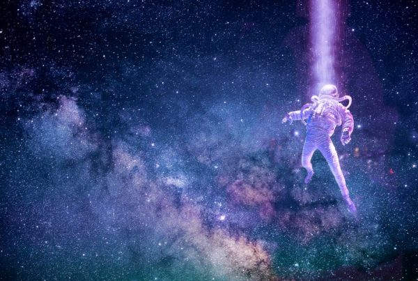 Astrounaut in space